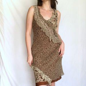 Vintage Silk Leopard Dress